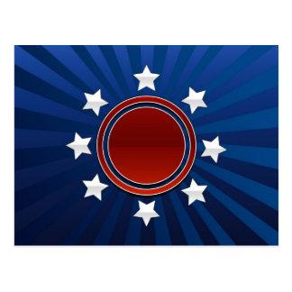 Patriotic  Design Postcard