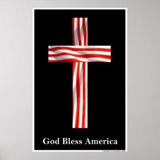 "Patriotic Designs - ""God Bless America"" Poster"