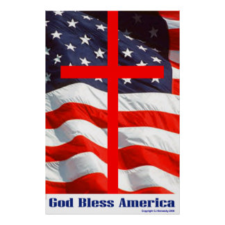 "Patriotic Designs - ""God Bless America"" Poster"