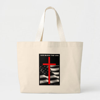 """Patriotic Designs - """"God Bless The USA"""" Canvas Bags"""