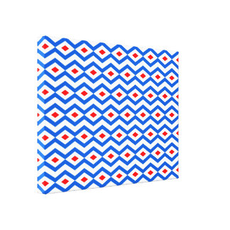 Patriotic Diamond Zigzag Canvas