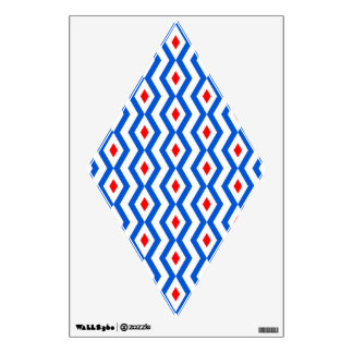 Patriotic Diamond Zigzag  Wall Decal