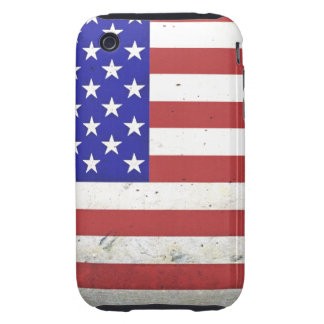 Patriotic Distressed American Flag iPhone 3 Tough Cover