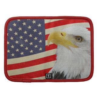 Patriotic Distressed Look Eagle On Flag Organizer