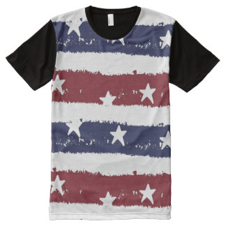Patriotic Distressed Stars and Stripes Shirt