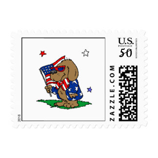 Patriotic Dog (2) Postage