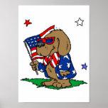 Patriotic Dog (2) Posters