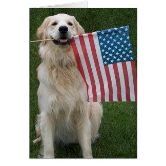 Patriotic Dog Card