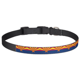 Patriotic dog collar with Flag of Arizona State
