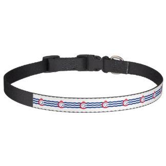Patriotic dog collar with Flag of Cincinnati