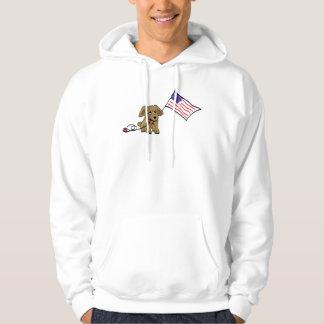 Patriotic Dog July Fourth Sweatshirt Hoodie