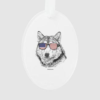 Patriotic Dog Ornament