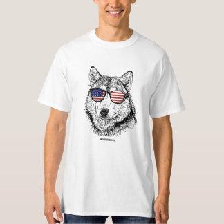 Patriotic Dog - - Politiclothes Humor --.png T-Shirt
