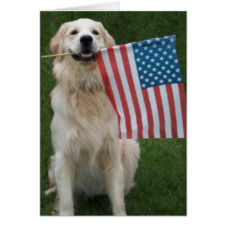 Patriotic Dog Stationery Note Card