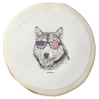 Patriotic Dog Sugar Cookie
