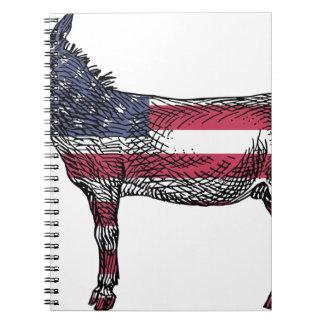 Patriotic Donkey Notebook