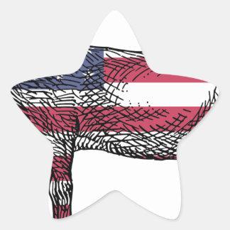 Patriotic Donkey Star Sticker