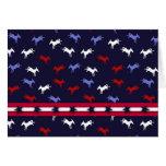 Patriotic Donkeys Card