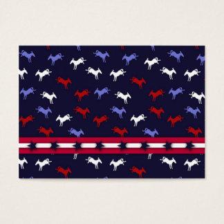Patriotic Donkeys Gift Tag