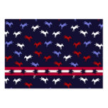 Patriotic Donkeys Gift Tag Business Card