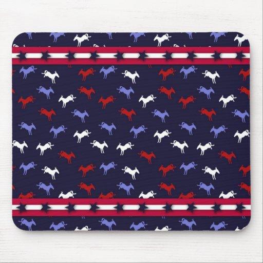 Patriotic Donkeys Mousepad