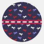 Patriotic Donkeys Sticker