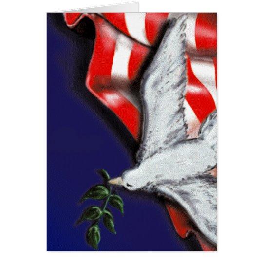 Patriotic Dove card