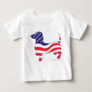 Patriotic Doxie Baby T-Shirt