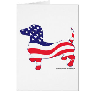 Patriotic Doxie Card
