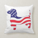 Patriotic Doxie Pillow