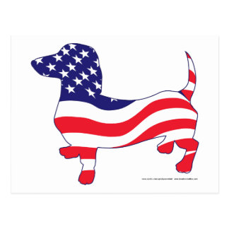 Patriotic Doxie Postcard