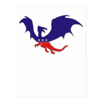 Patriotic Dragon customizable postcard