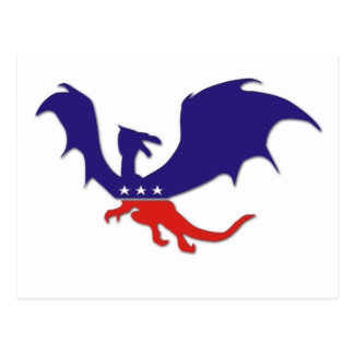 Patriotic Dragon Postcard