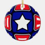 Patriotic Dreams Spiral & Stars Christmas Tree Ornament