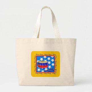 Patriotic Drums Large Tote Bag