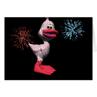 Patriotic Duck Greeting Cards