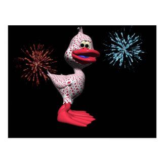 Patriotic Duck Postcard
