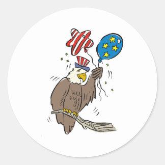 Patriotic Eagle (2) Classic Round Sticker
