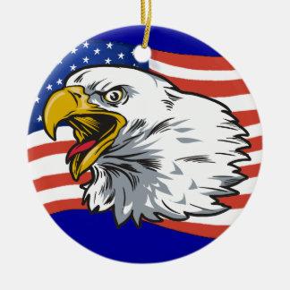 Patriotic Eagle 2 Christmas Ornaments