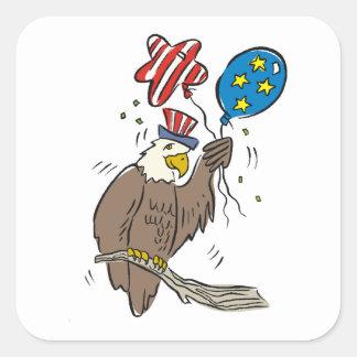 Patriotic Eagle (2) Square Sticker