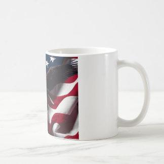 Patriotic Eagle American Flag Classic White Coffee Mug