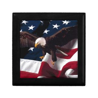 Patriotic Eagle American Flag Gift Box