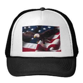 Patriotic Eagle American Flag Trucker Hat