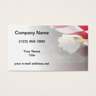 Patriotic Eagle and Flag Business Card