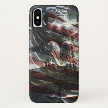 Patriotic Eagle and Flag phone case