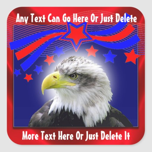 Patriotic Eagle And Stars Stickers