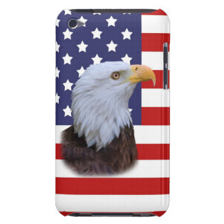 Patriotic Eagle and US Flag Barely There iPod Cases