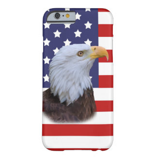 Patriotic Eagle and USA Flag Barely There iPhone 6 Case