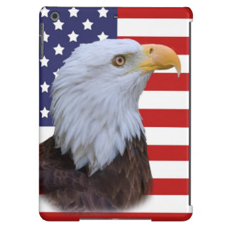 Patriotic  Eagle and USA Flag  Customizable Case For iPad Air