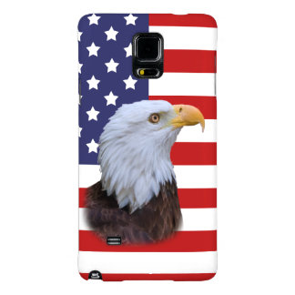 Patriotic  Eagle and USA Flag  Customizable Galaxy Note 4 Case